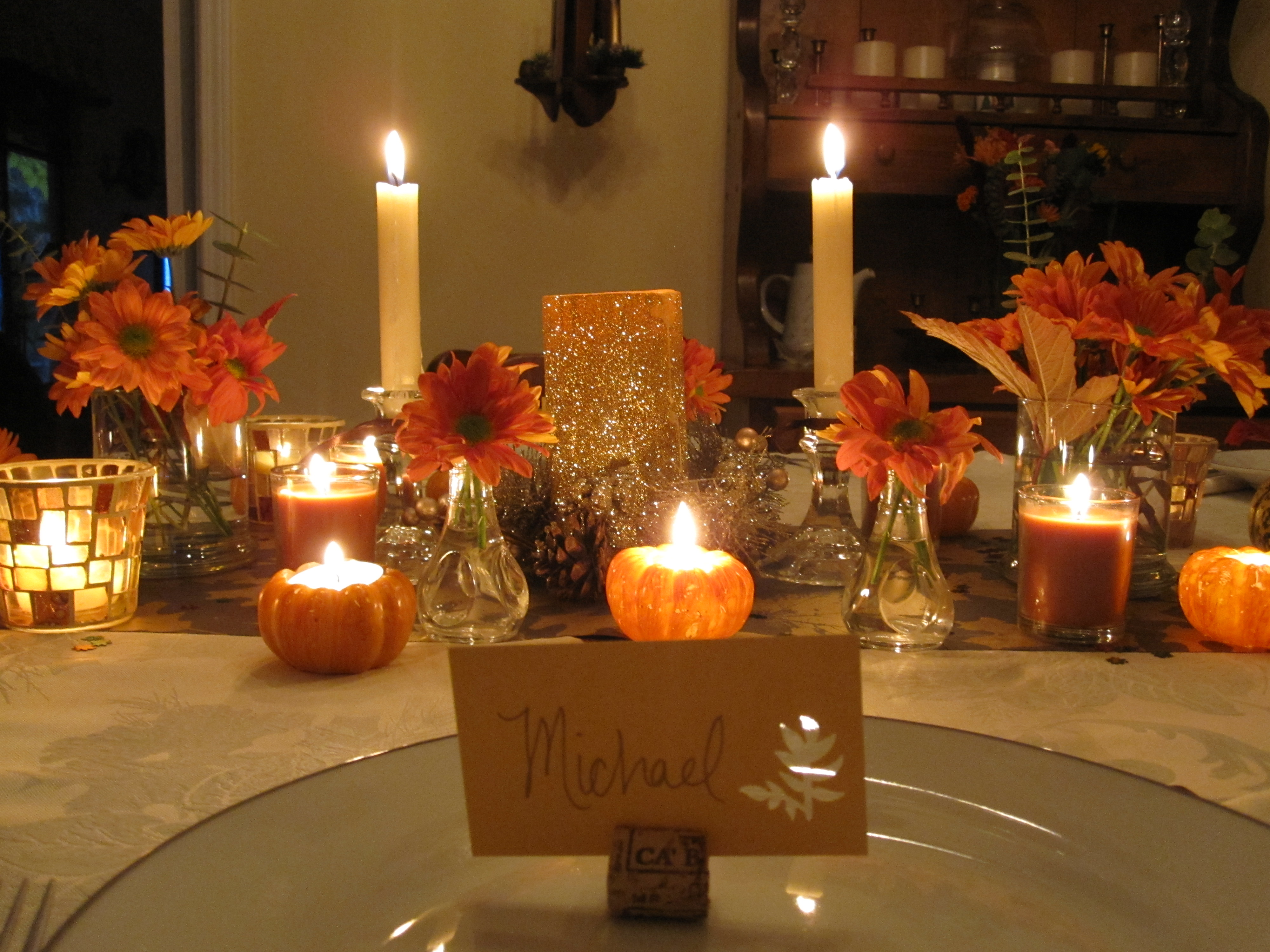 My thanksgiving table six twists Cheap thanksgiving table setting ideas