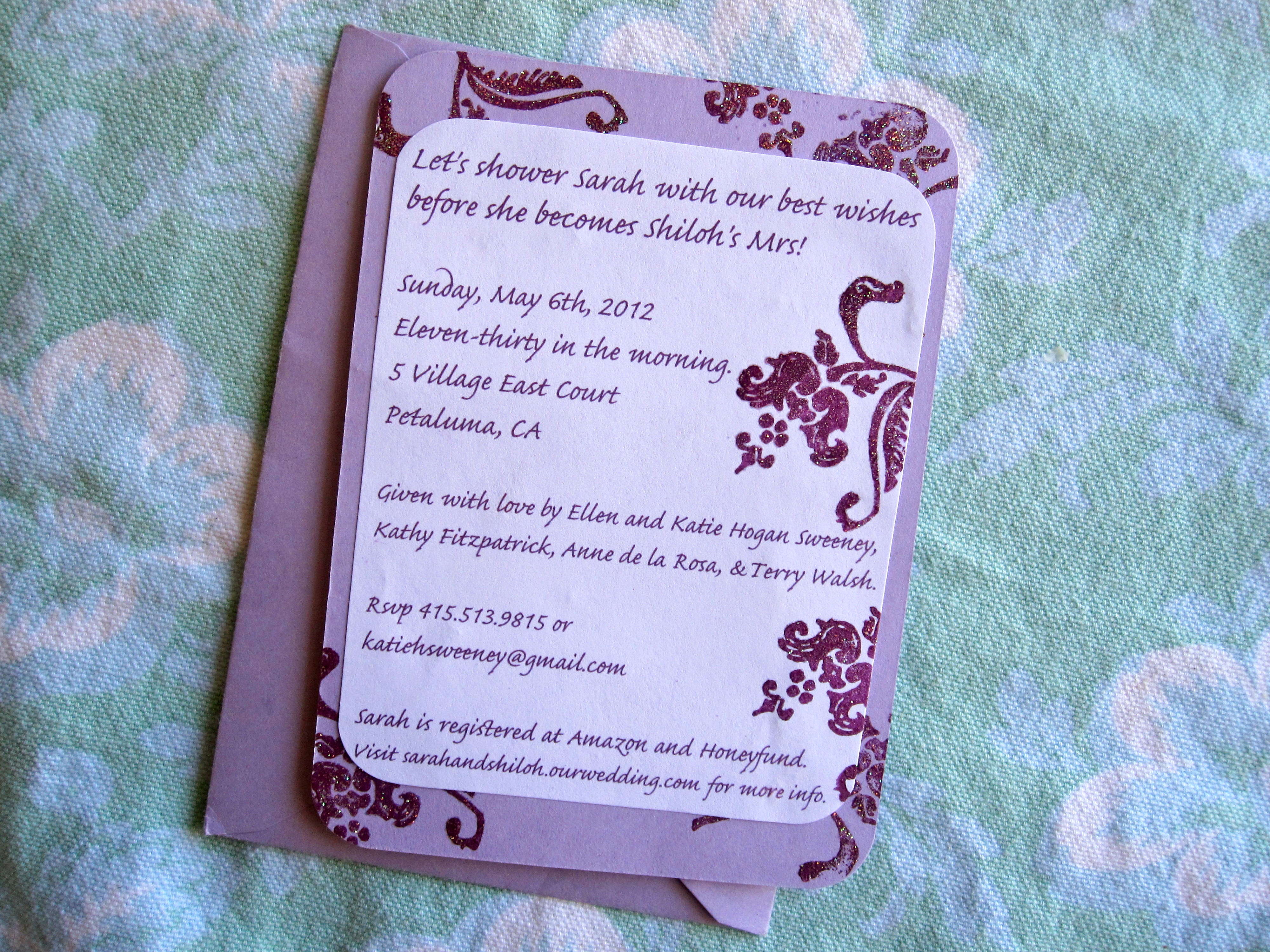 How to make bridal shower invitations six twists yesterday filmwisefo