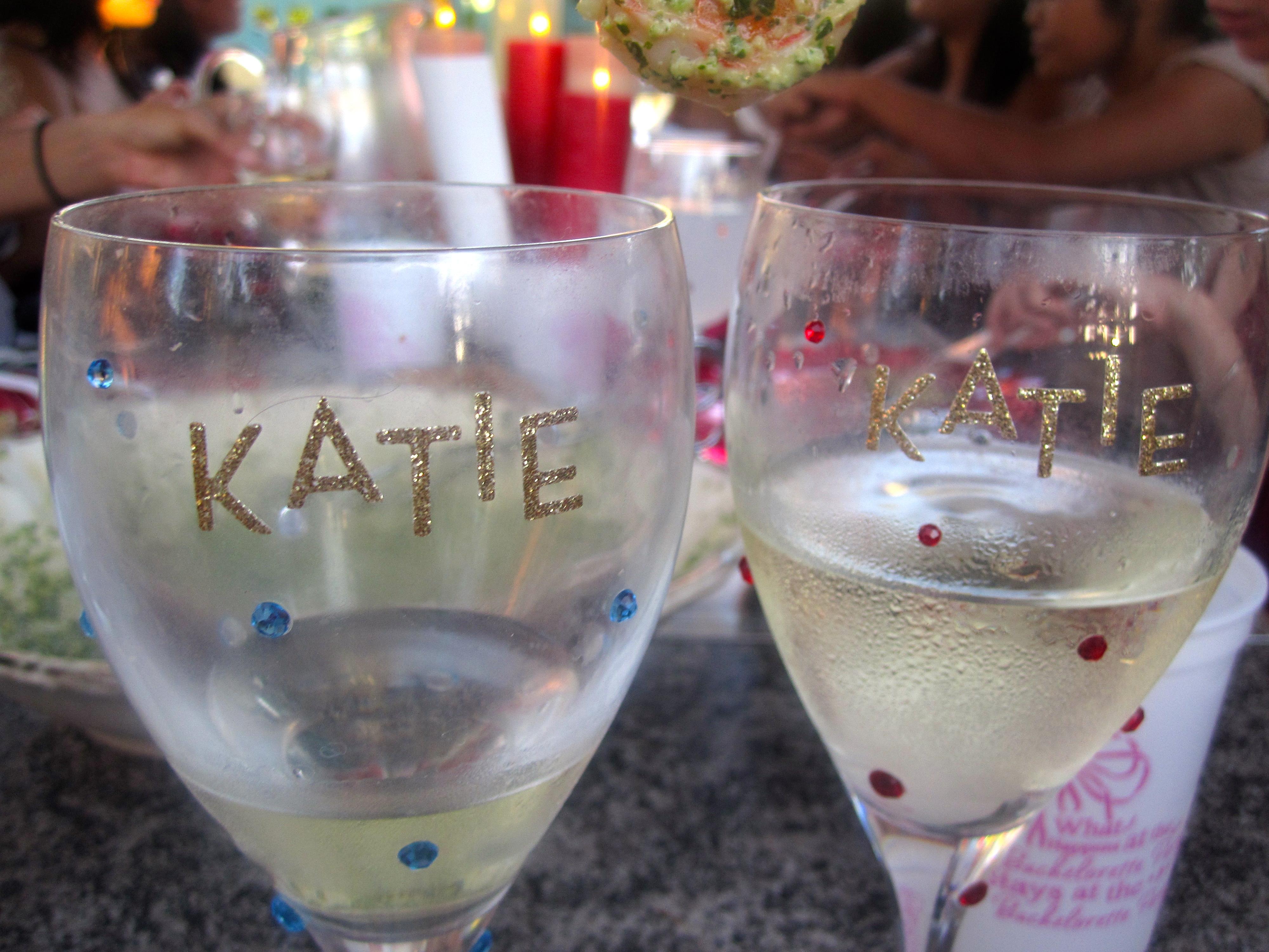 Party Fabulous Personalized Wine Glasses Six Twists